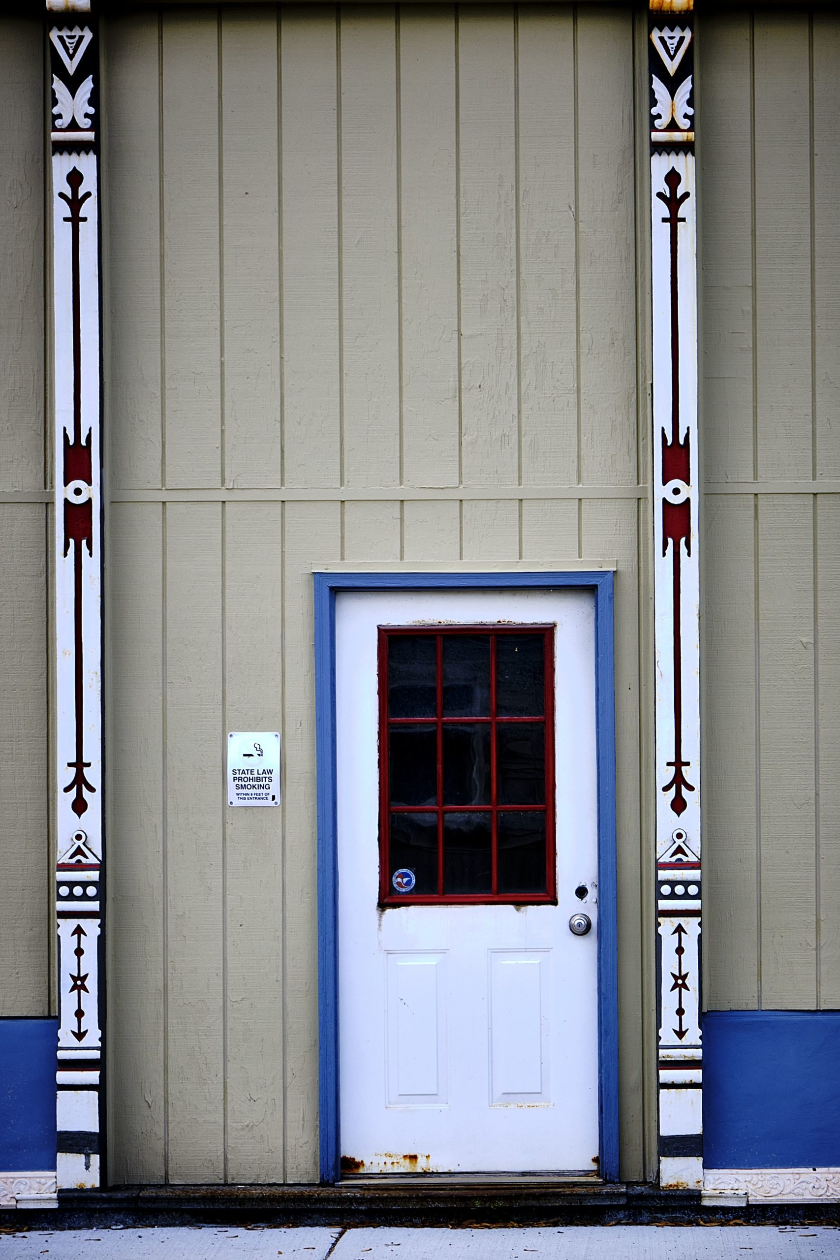 Red, White, and Blue Door